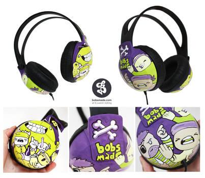 Ninja vs Pirates Headphones by Bobsmade