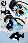 Killer Whale Headphones