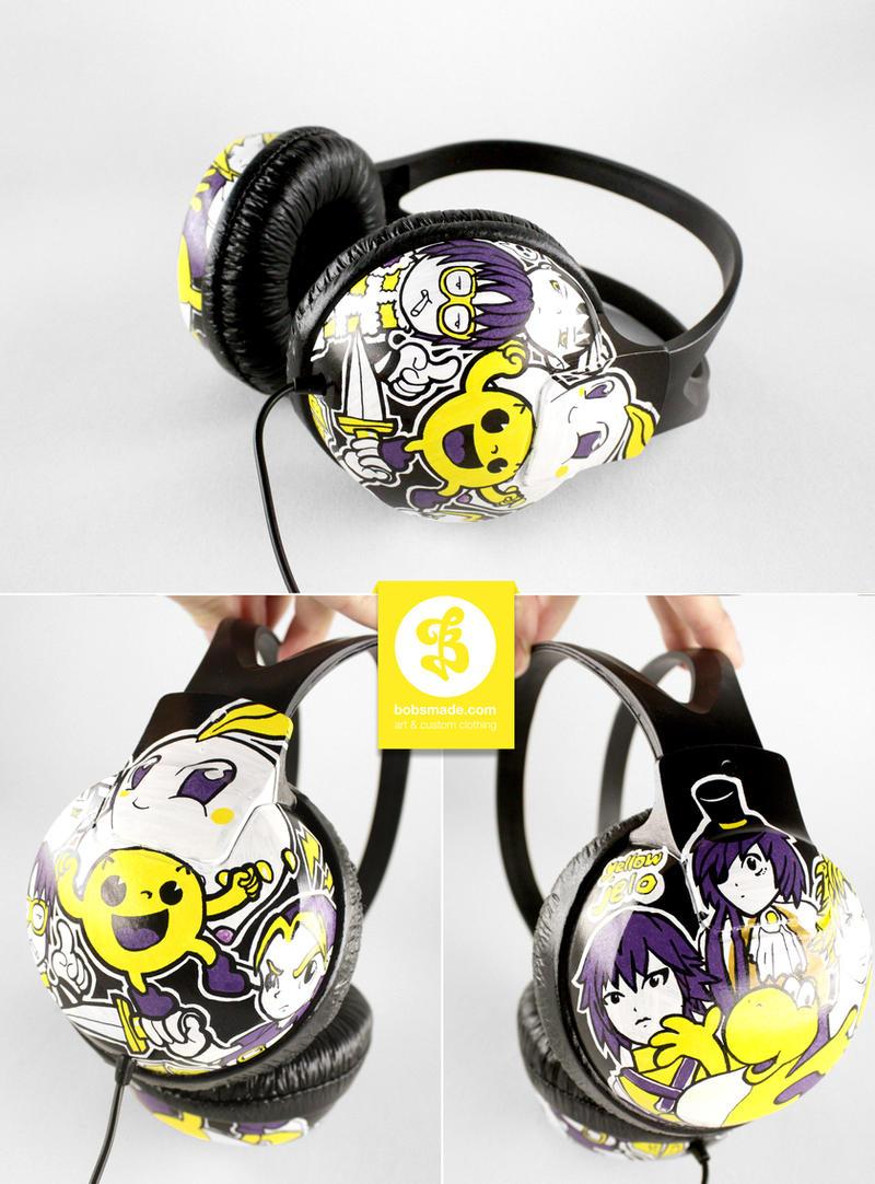 yellow Jelo  Headphones by Bobsmade