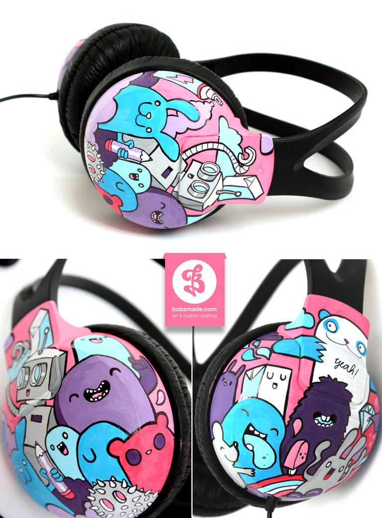 Crazy Club headphones by Bobsmade