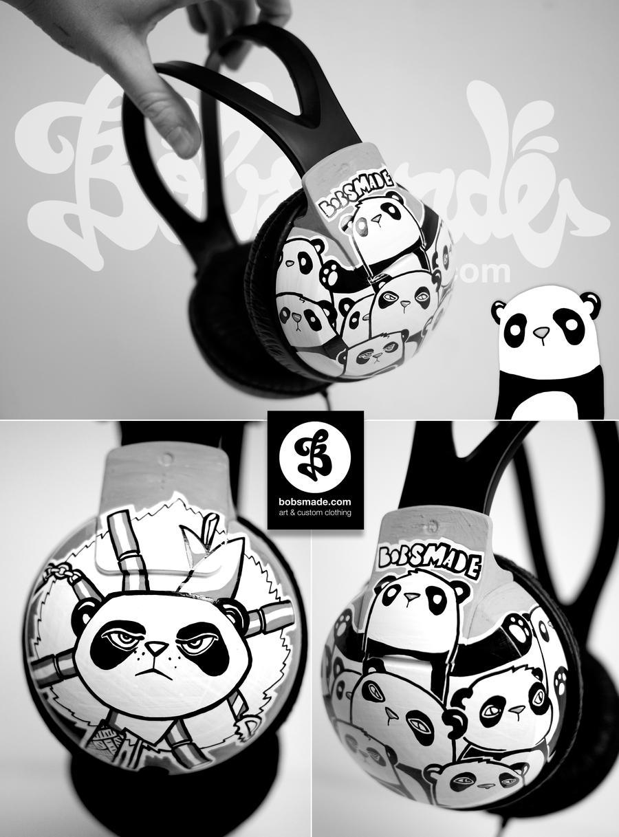 Bad Panda headphons by Bobsmade