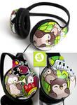 Owls and Snails Headphones