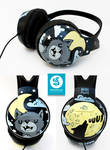 Moon and Wolf headphones
