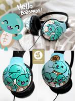 Cute Turtle headphones by Bobsmade