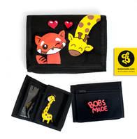 Redpanda and Giraffe Wallet by Bobsmade