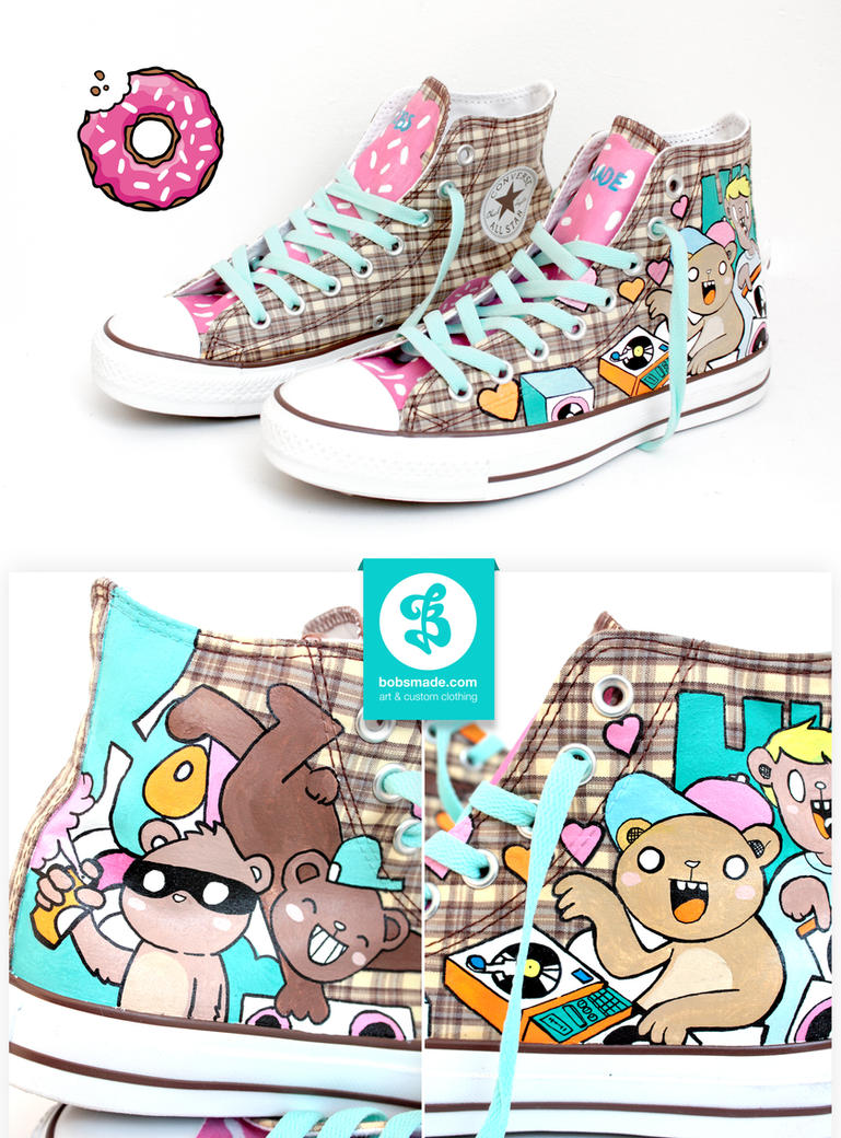 HIP HOP Teddy Chucks by Bobsmade