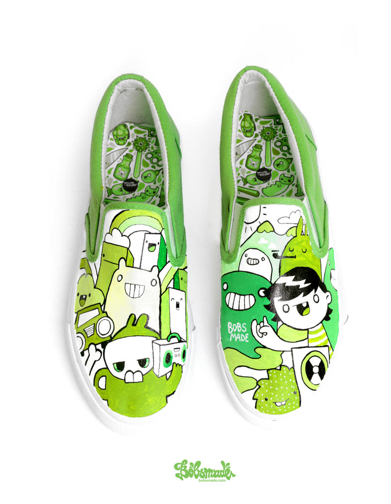 Girls Canvas Slip On Shoes