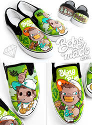 Bboy Monkeyz Shoes by Bobsmade