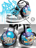 graffiti headphones by Bobsmade