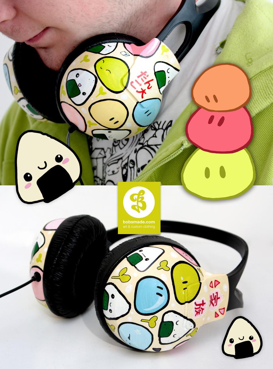 Onigiris and Dangos Headphones by Bobsmade