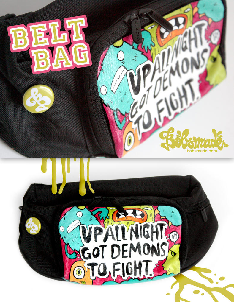 Up all night belt bag by Bobsmade