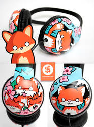 Little Fox headphones by Bobsmade