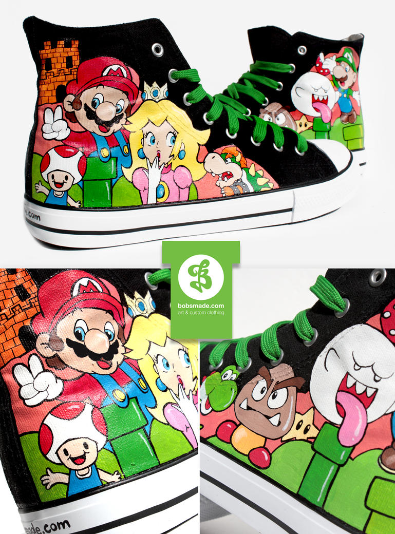 Super Mario Shoes by Bobsmade