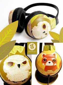 Owl and Red Panda Phones