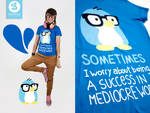 mediocre world penguin shirt