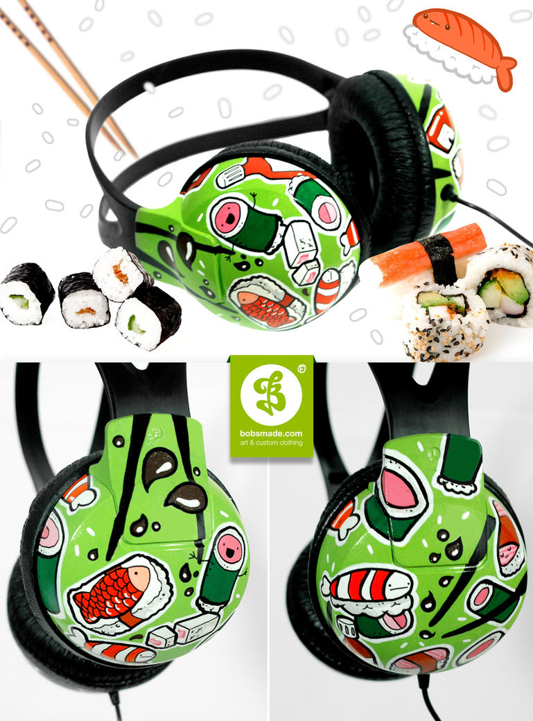 Sushi Headphones by Bobsmade