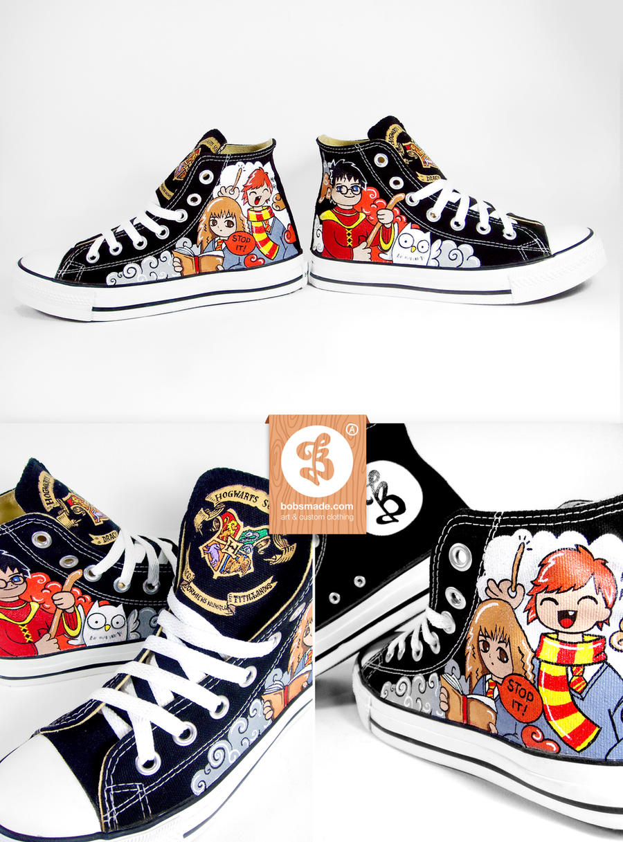 Hogwarts shoes by Bobsmade