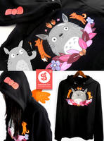 Totoro Hoodie by Bobsmade
