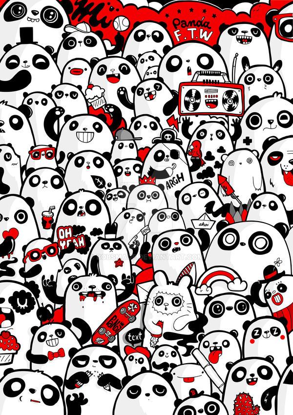 Panda Poster by Bobsmade