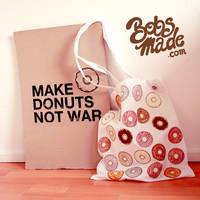 White Donut Bag by Bobsmade
