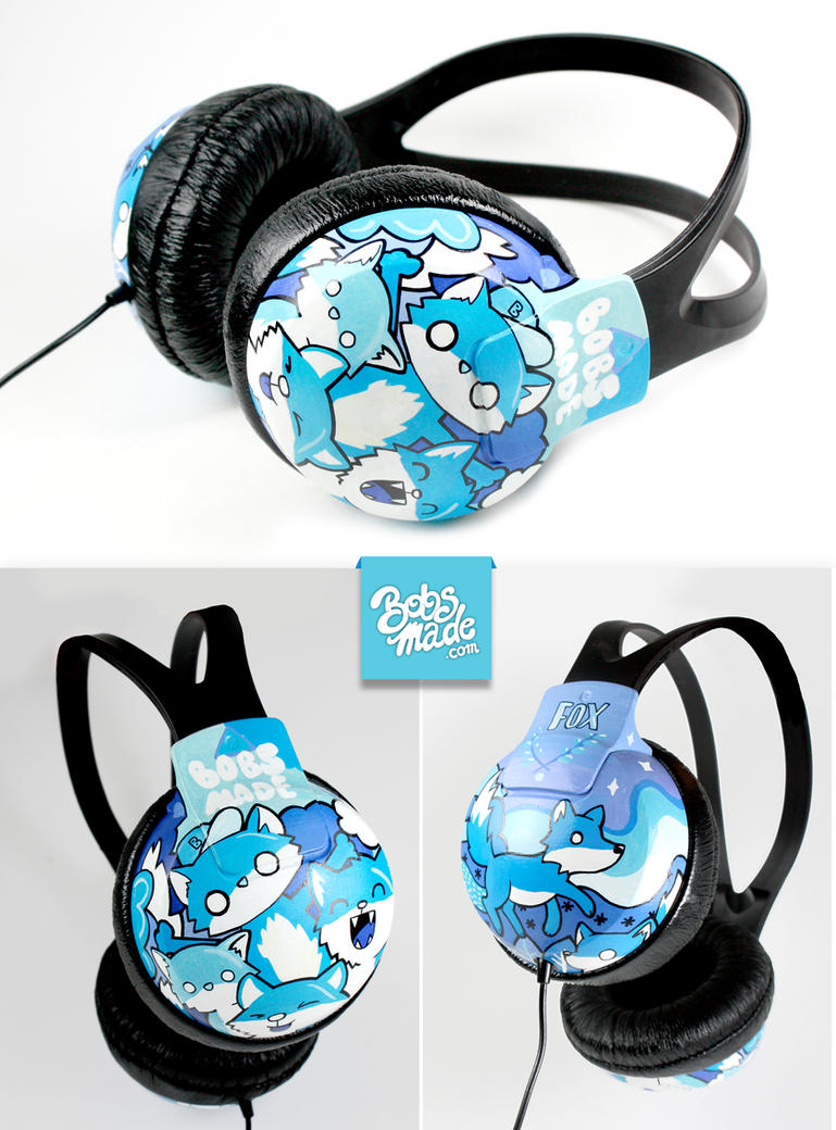 Blue Foxes Headphones by Bobsmade