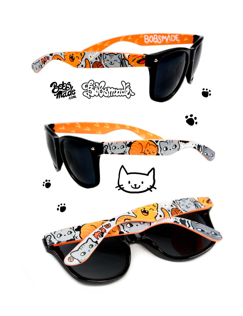 orange and gray Cat Sunglasses by Bobsmade