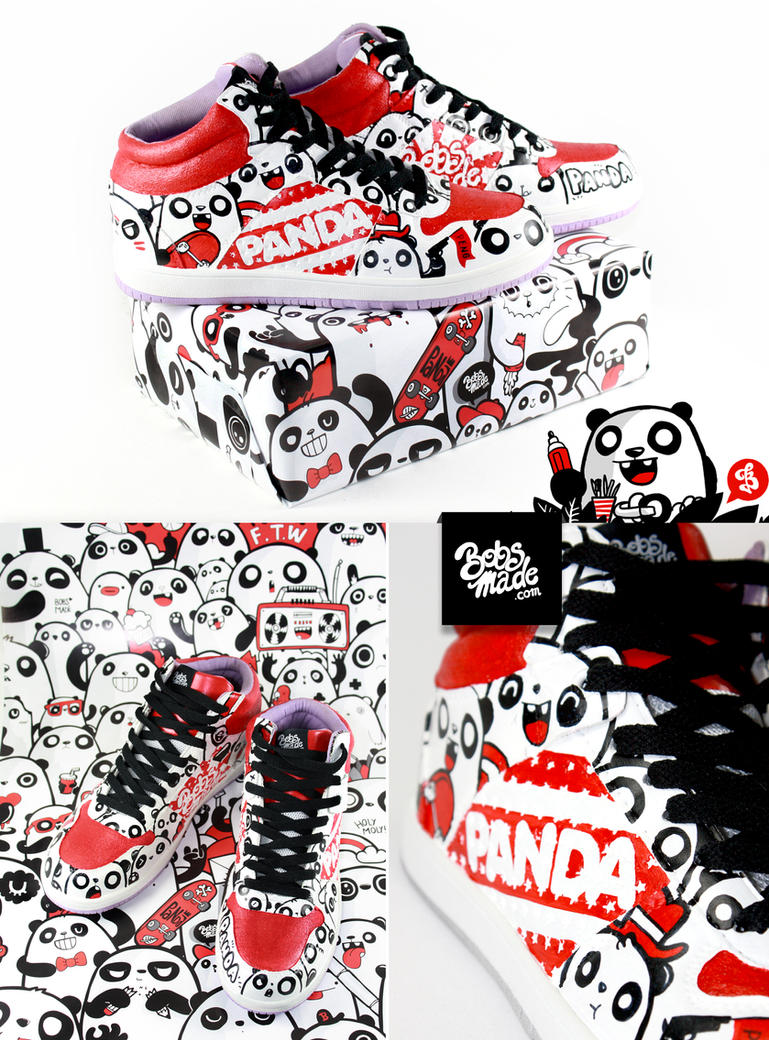 Panda sneakers by Bobsmade