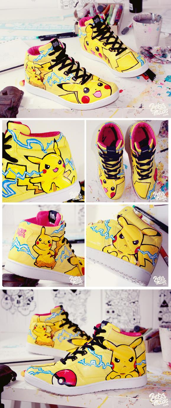 Pikachu Sneaker by Bobsmade