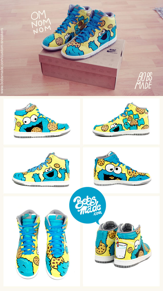 Cookie Monster Shoes by Bobsmade