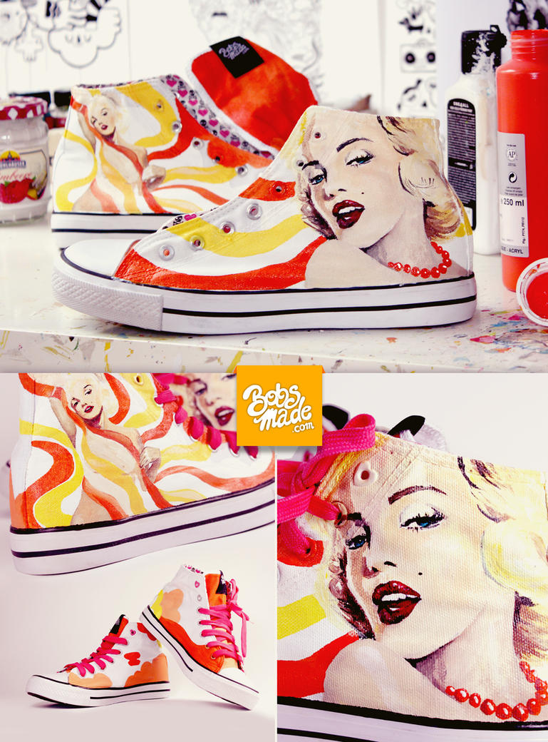 Marilyn Monroe Shoes by Bobsmade