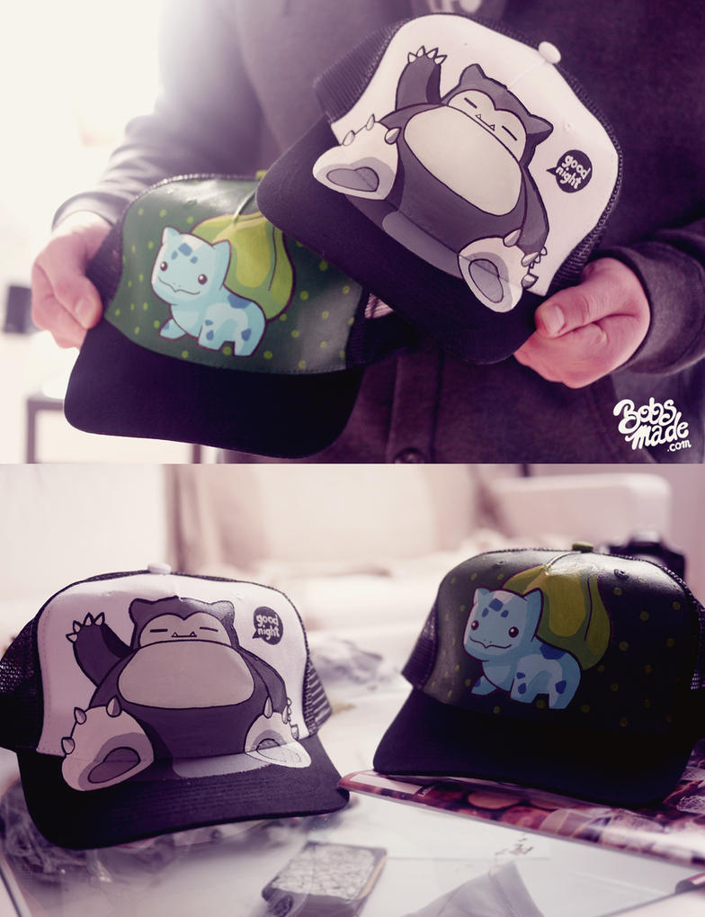 Pokemon Caps by Bobsmade
