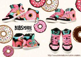 Donut Monster Sneaker by Bobsmade