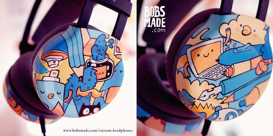 Artsy Headphones by Bobsmade