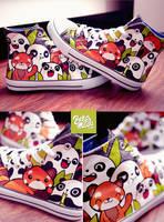 Panda Friends Chuckz by Bobsmade