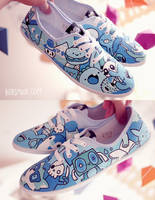 Blue Dudes Shoes by Bobsmade