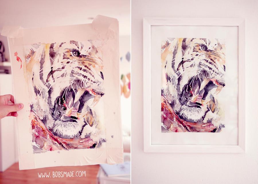Watercolor Tiger by Bobsmade