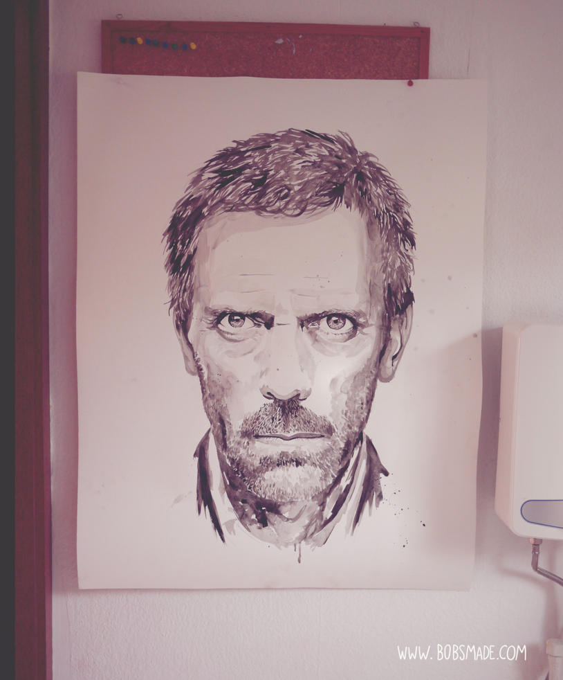 Dr House painting by Bobsmade