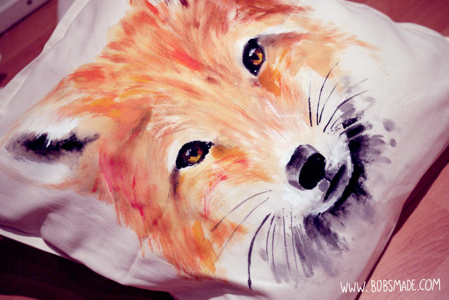 Fox cushion by Bobsmade