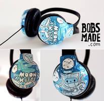 moon kitty headphones by Bobsmade