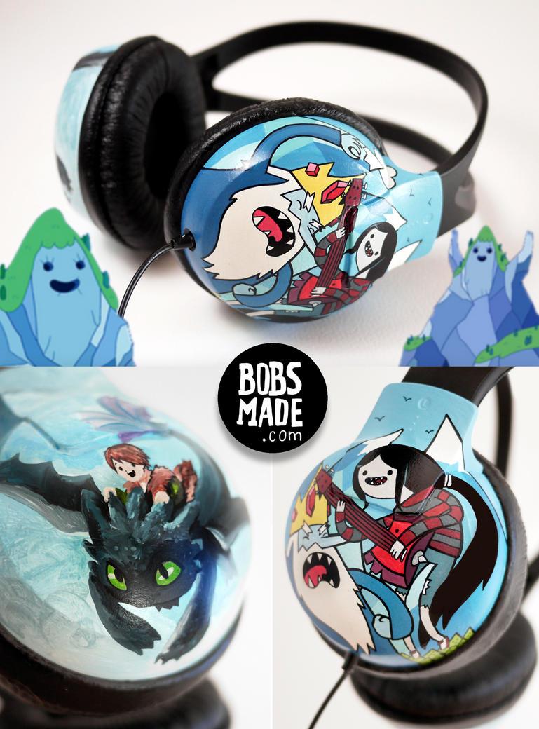 Adventure Dragon Headphones by Bobsmade