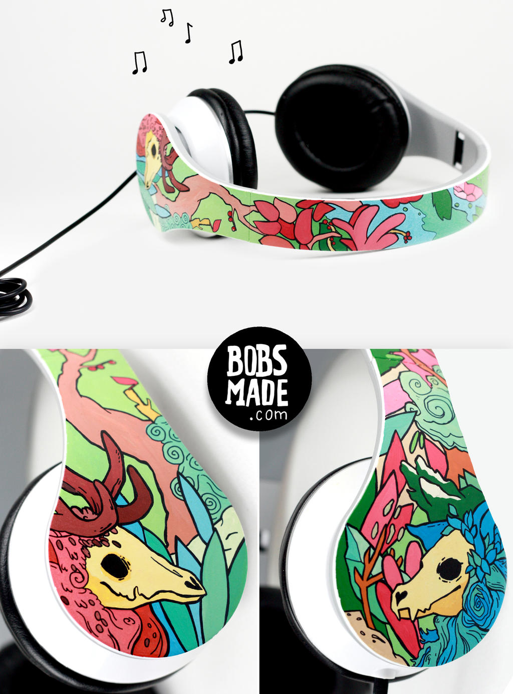 skeleton animals Headphones by Bobsmade