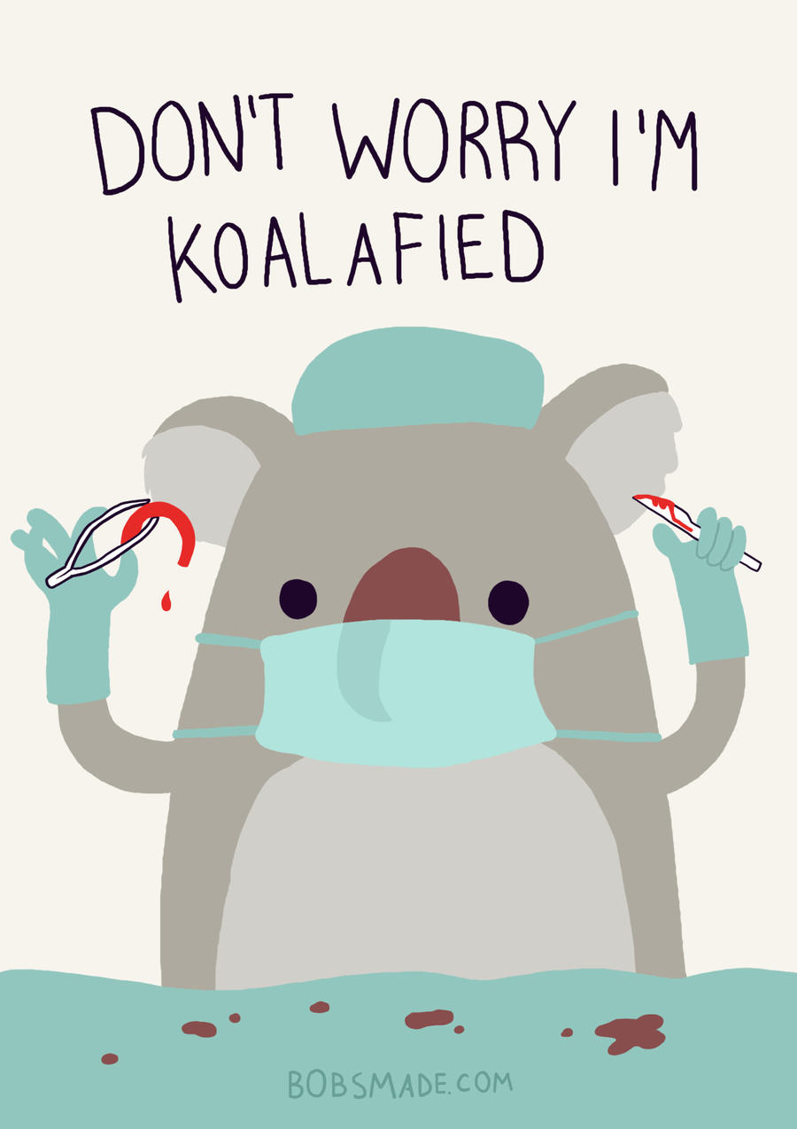 Don't Worry I'm Koalafied by Bobsmade