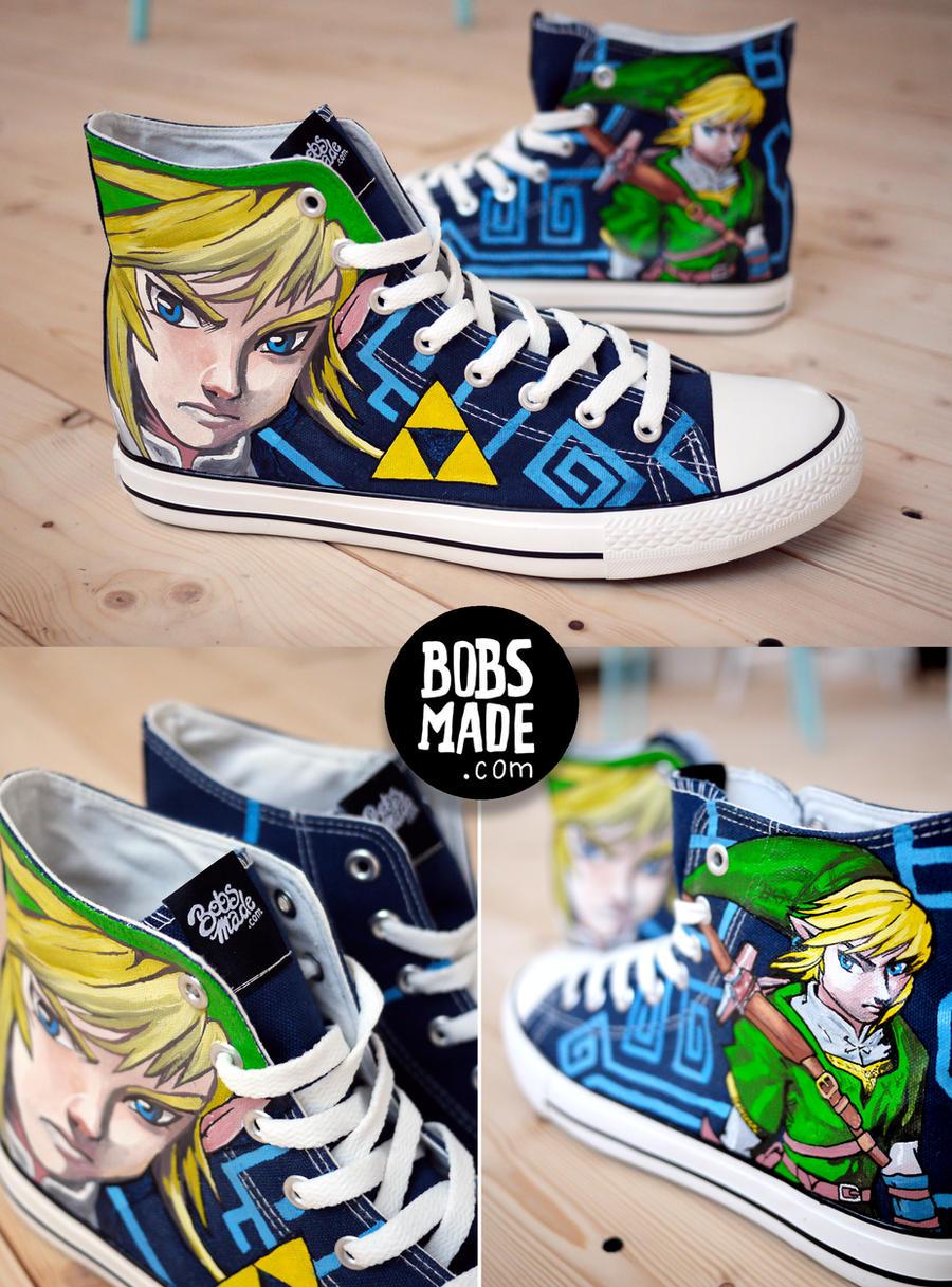 Legend Of Zelda Converse Shoes