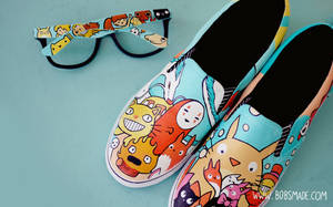 Studio Ghibli Shoes by Bobsmade