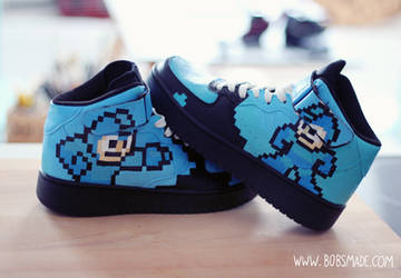 Custom Mega Man Sneaker - Back to Black