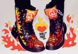 Rammstein - Custom Painted Boots