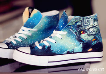 Link and Midna on twilight princess shoes