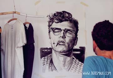 James Dean Portrait by Bobsmade