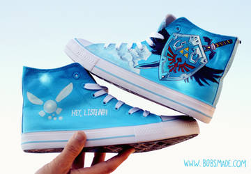 Zelda Hylian Shield Shoes by Bobsmade