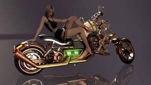 Steambike, nighty and Cara